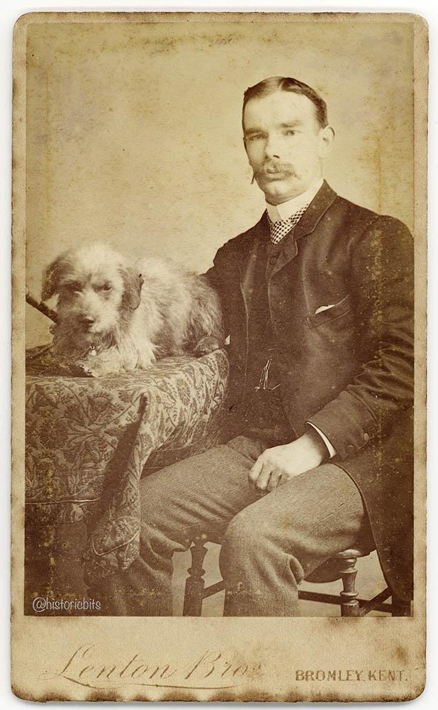 victorian-man-dog