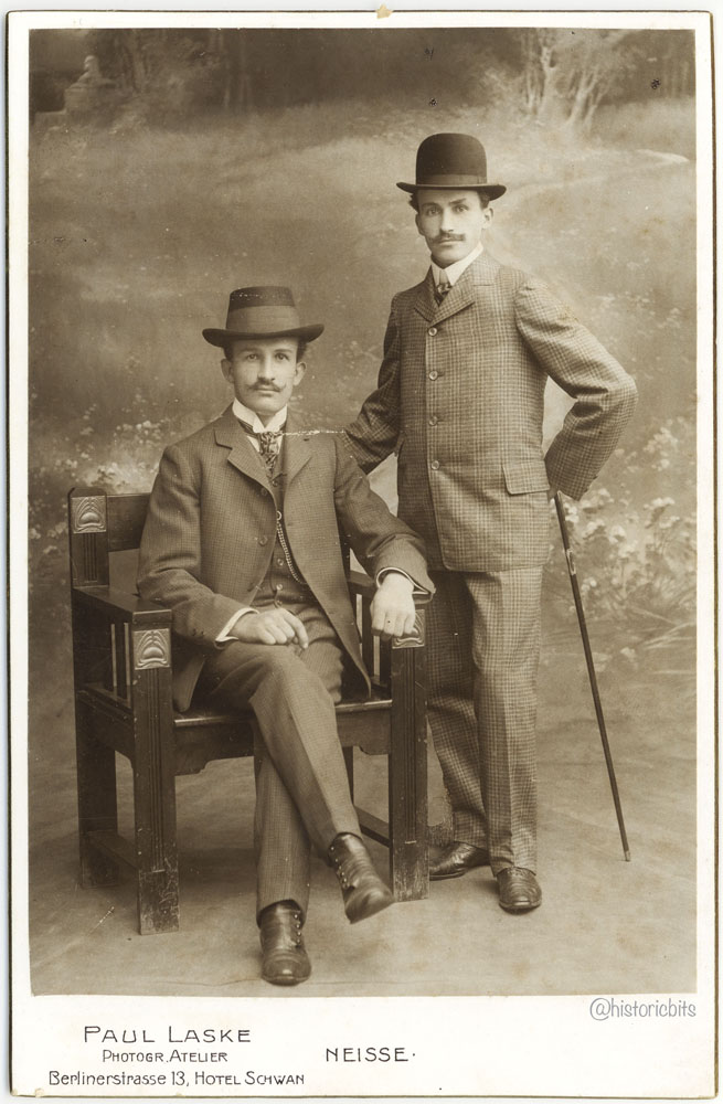 Friends at Photoatelier Paul Laske, Neisse, c.1900