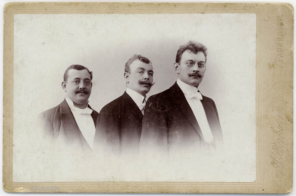 Three men in a photostudio,c.1890,Germany