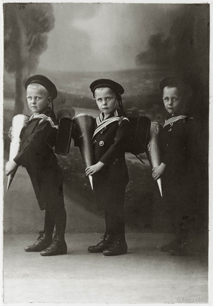 Three Schoolboys, c.1900