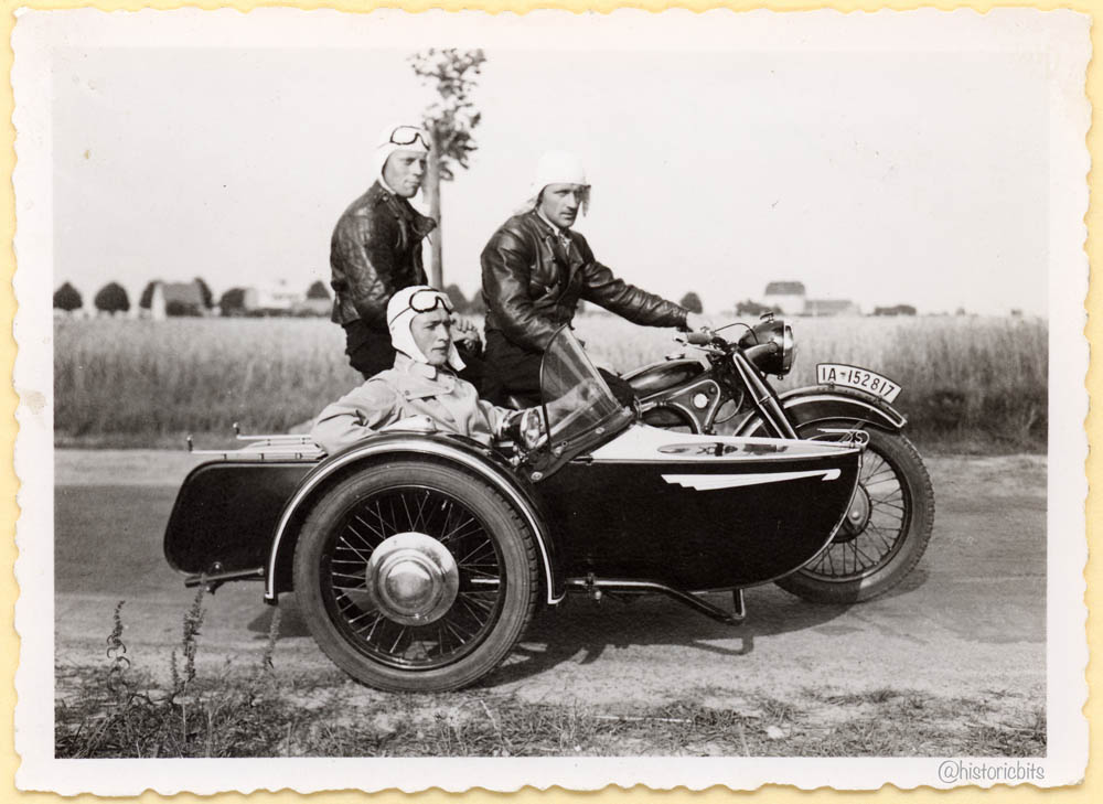BMW R12 motorcycle with Side Car, 1937