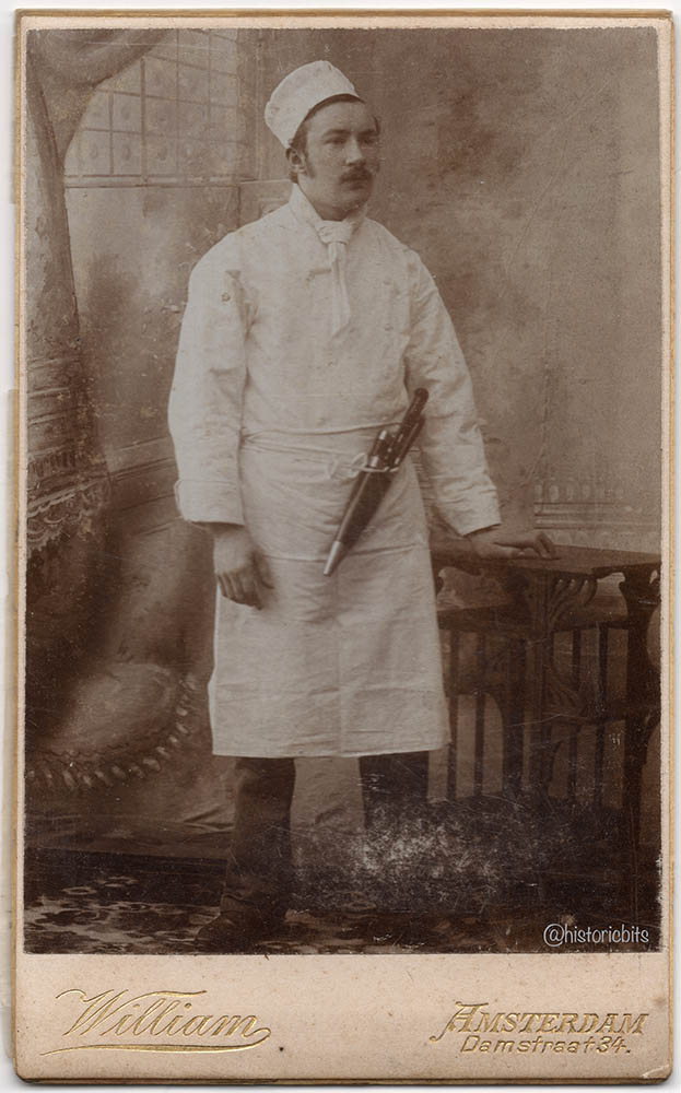 butcher in photostudio,c.1890