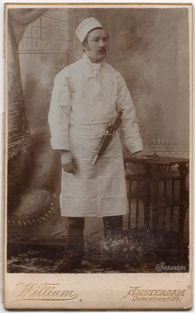butcher in photostudio,c.1890