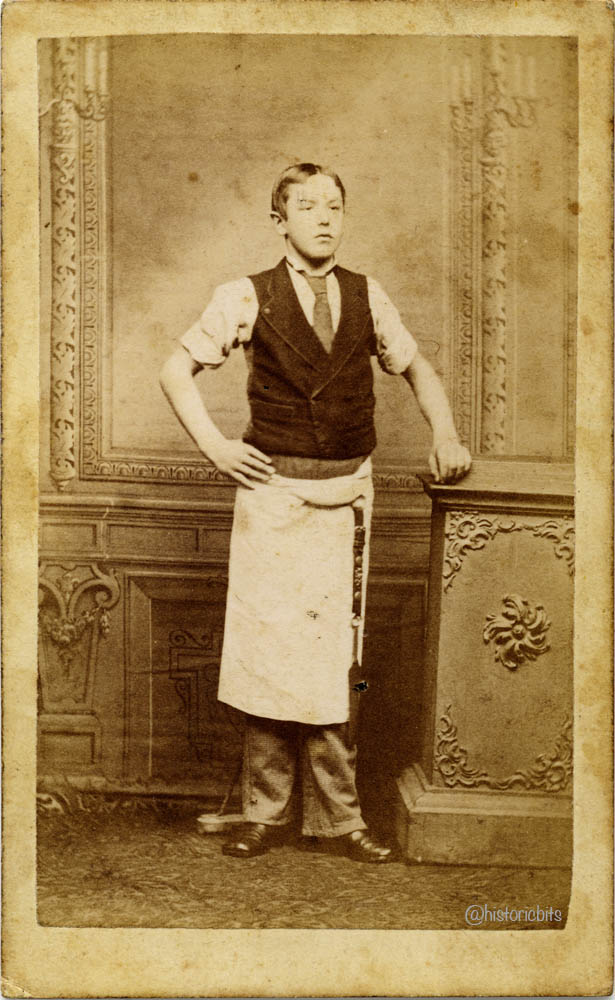 butcher in photostudio,c.1860