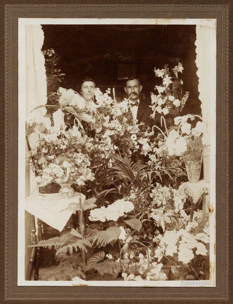 Couple with flowers,Germany,c.1900