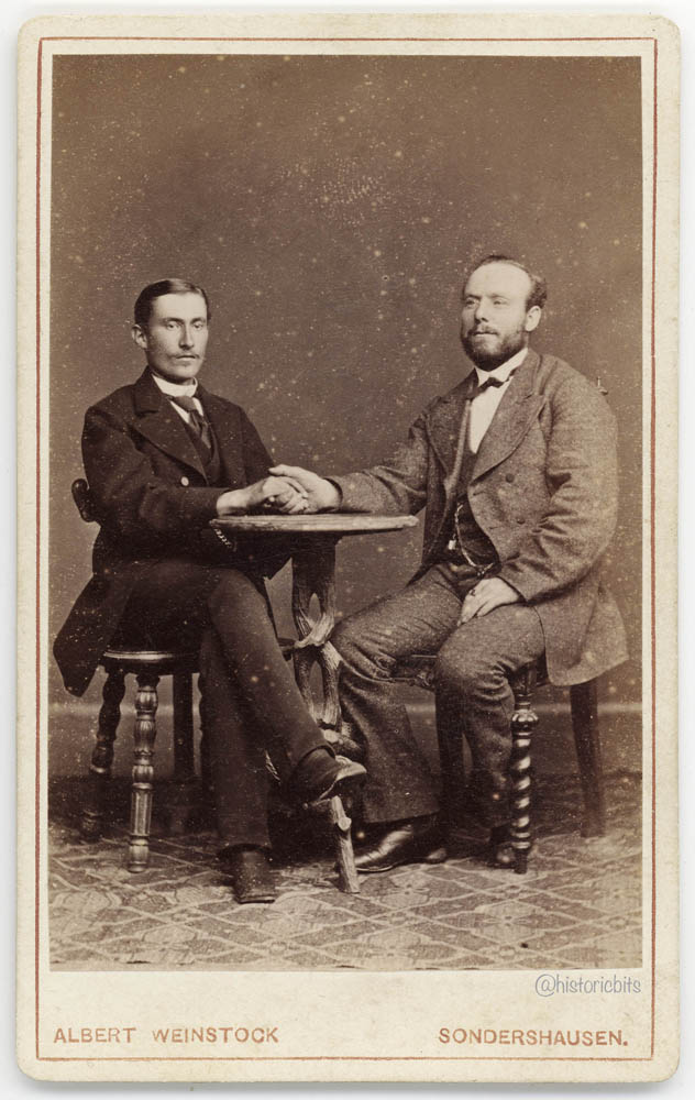 Good Friends in a Photostudio, Albert Weinstock,Sondershausen