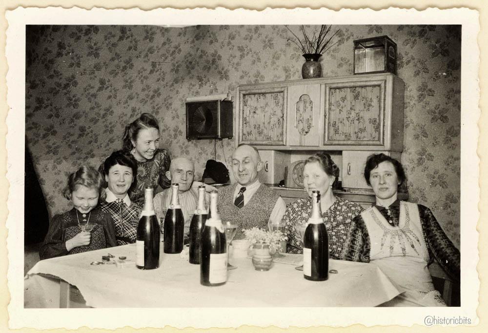 Berliner Famile mit Flaschen