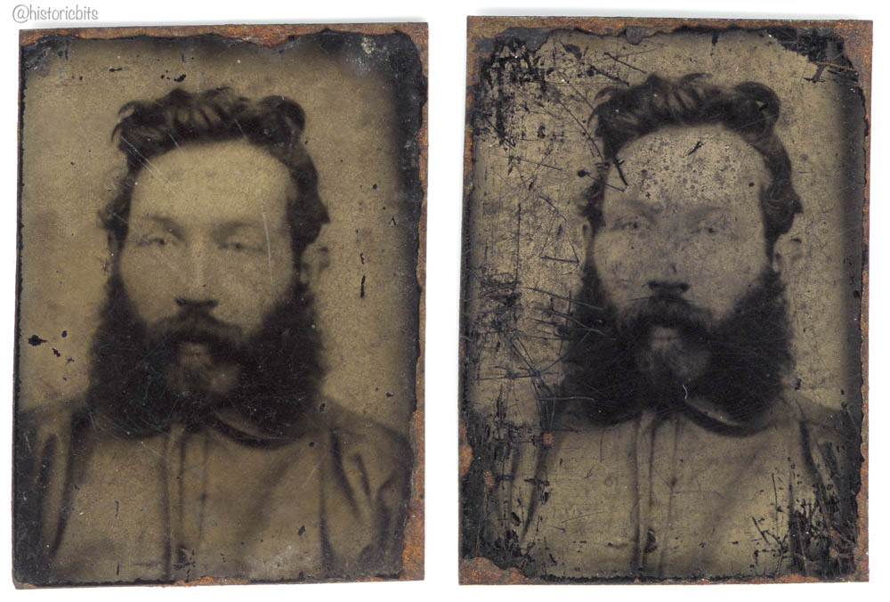 Gem -Size Tintype of a man, New Zealand, c. 1900