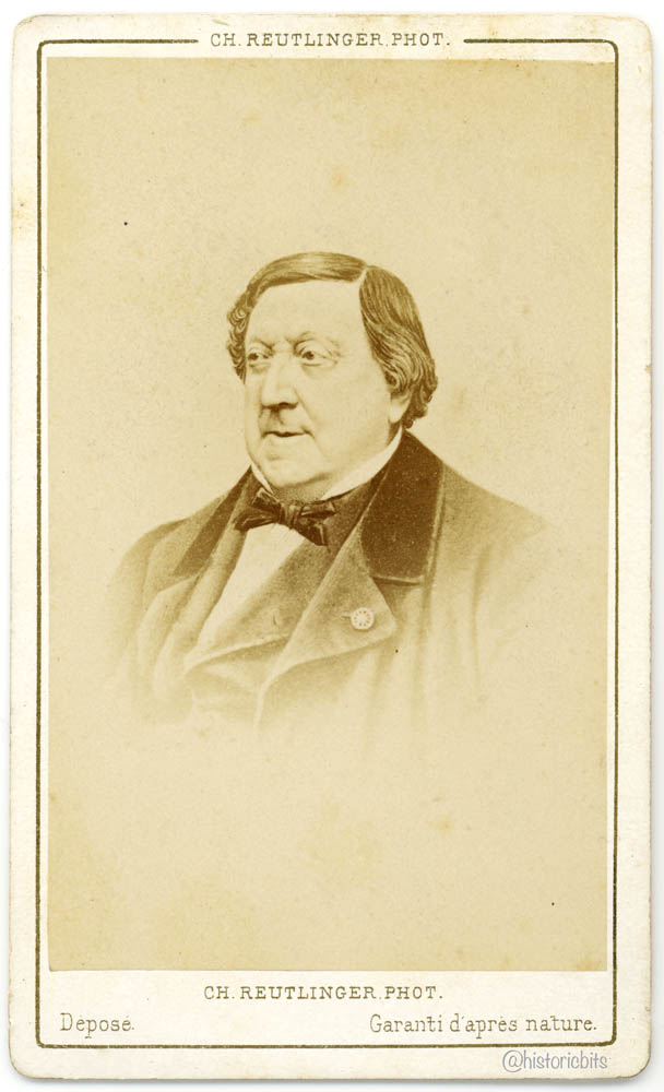 Giachino Rossini,Composer,by Ch. Reutlinger, Paris, ca. 1870