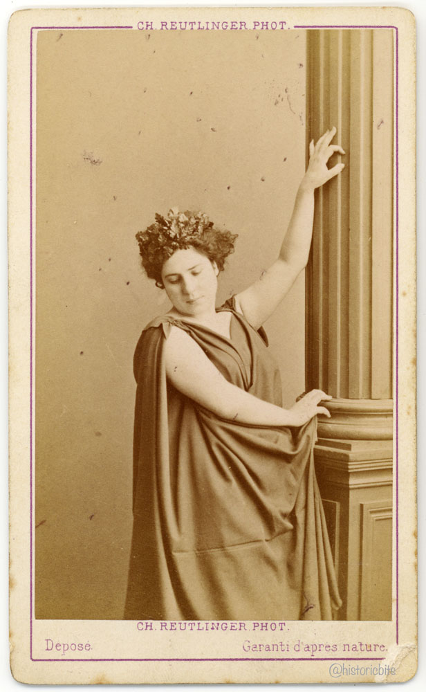 Marie Leonide Charvin called Agar,Actress, by Ch. Reutlinger, Paris, ca. 1870