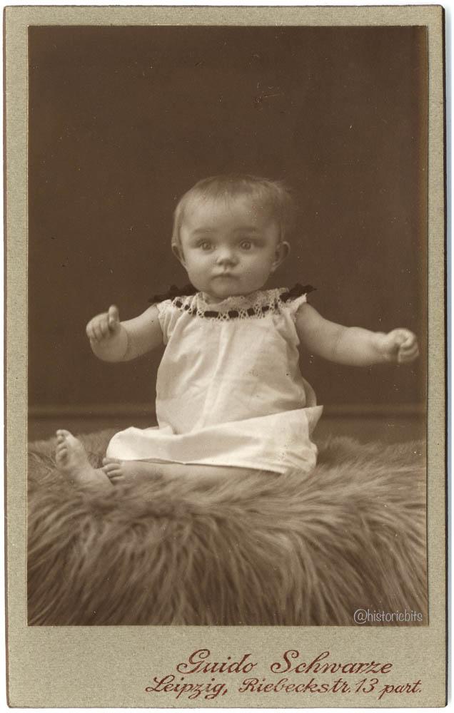 Baby on Fur, Div. German Photoateliers c.1900