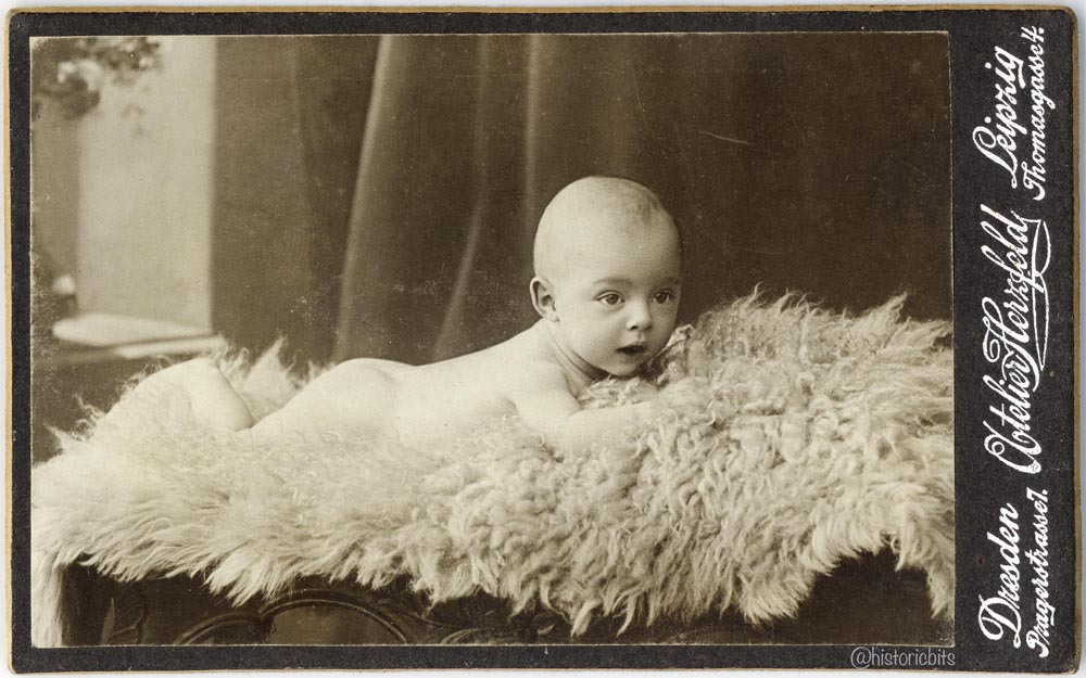 Baby on Fur, Div. German Photoateliers c.1900