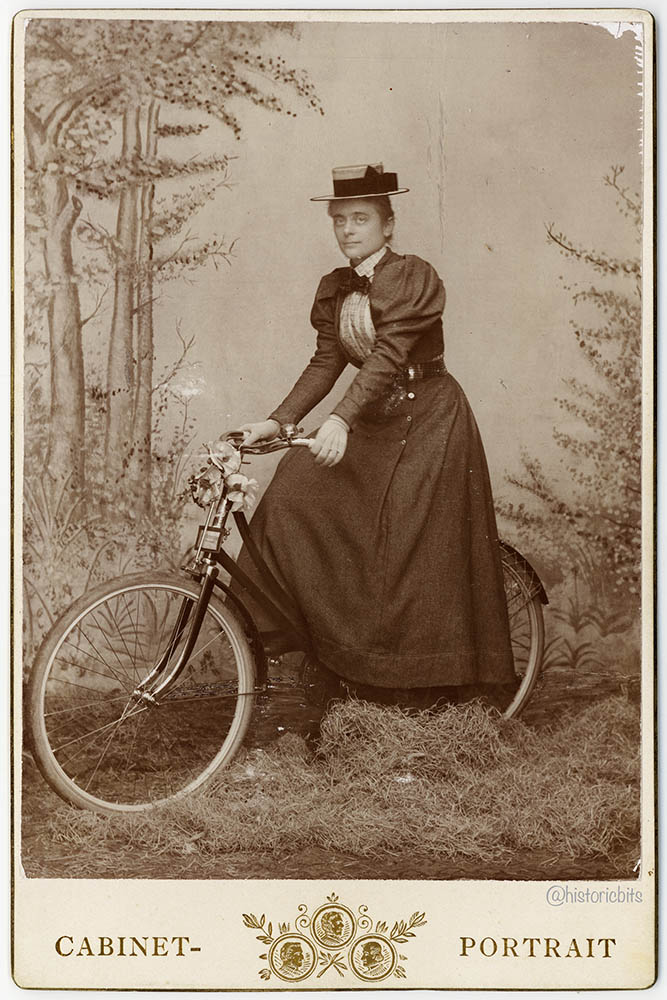 Lady on Bicycle,Germany,c.1900
