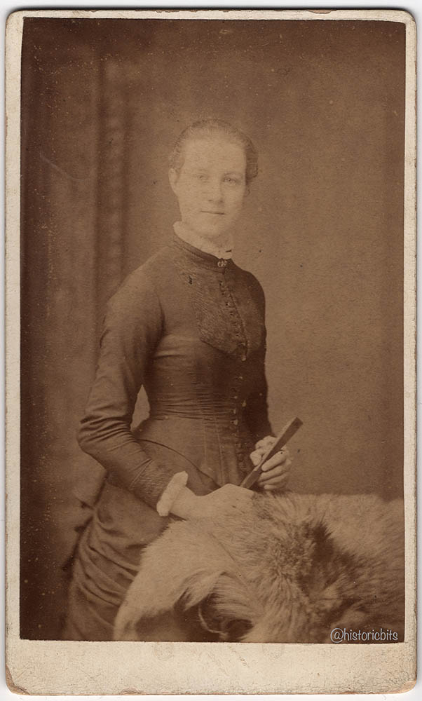 Lady with Fur,Britain,c.1890