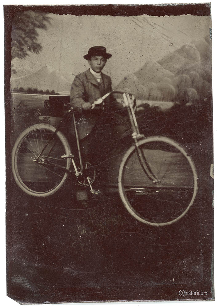 Young Man on Bicycle,Germany,c.1900