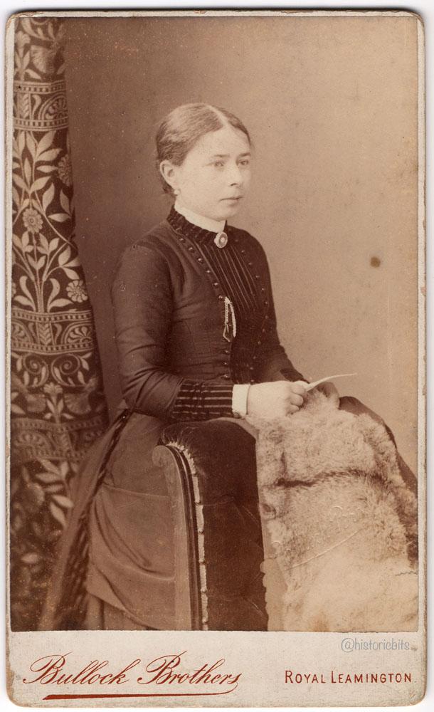Lady with Fur,Photostudio Bullock Brothers,Royal Leamington,Britain,c.1890