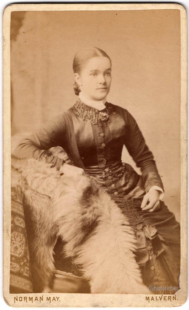 Lady with Fur,Photostudio Norman May,,Malvern,Britain,c.1890