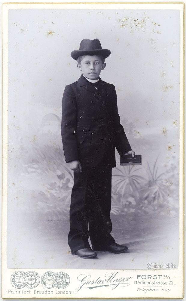 Boy with Confirmation Suit,Germany,Forst,1910