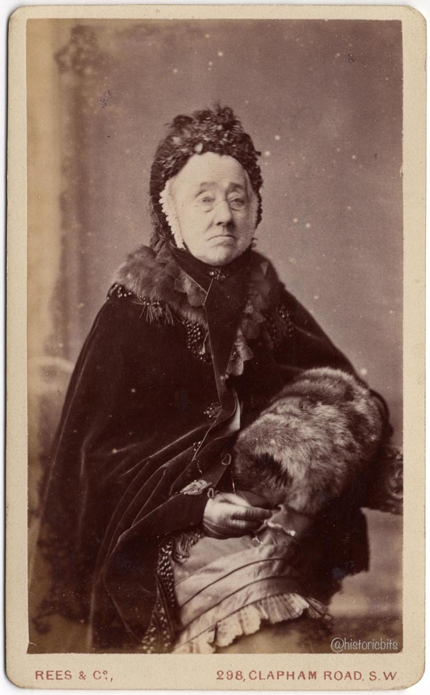 Lady with Fur Muff c.1880,Photostudio Rees,&Co.,London