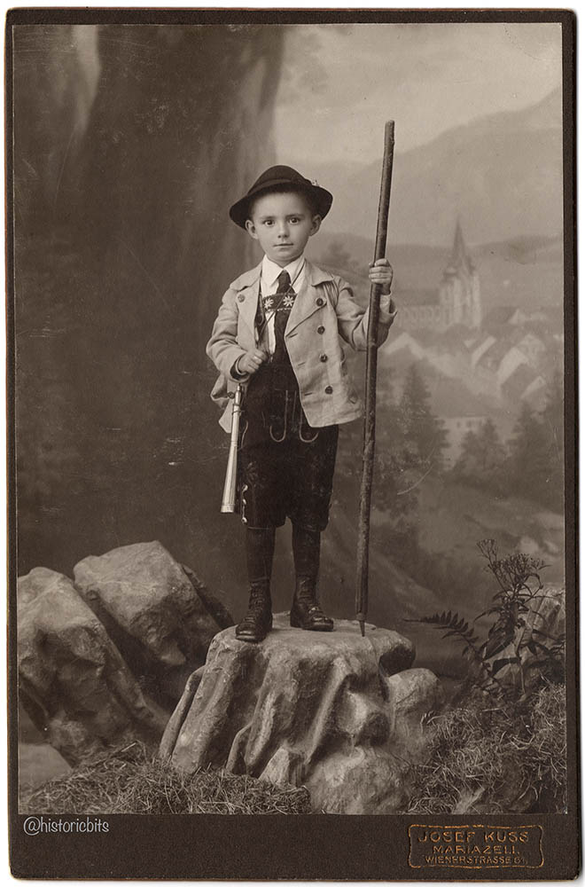 Boy in Garb,Maria Zell,Austria,1915