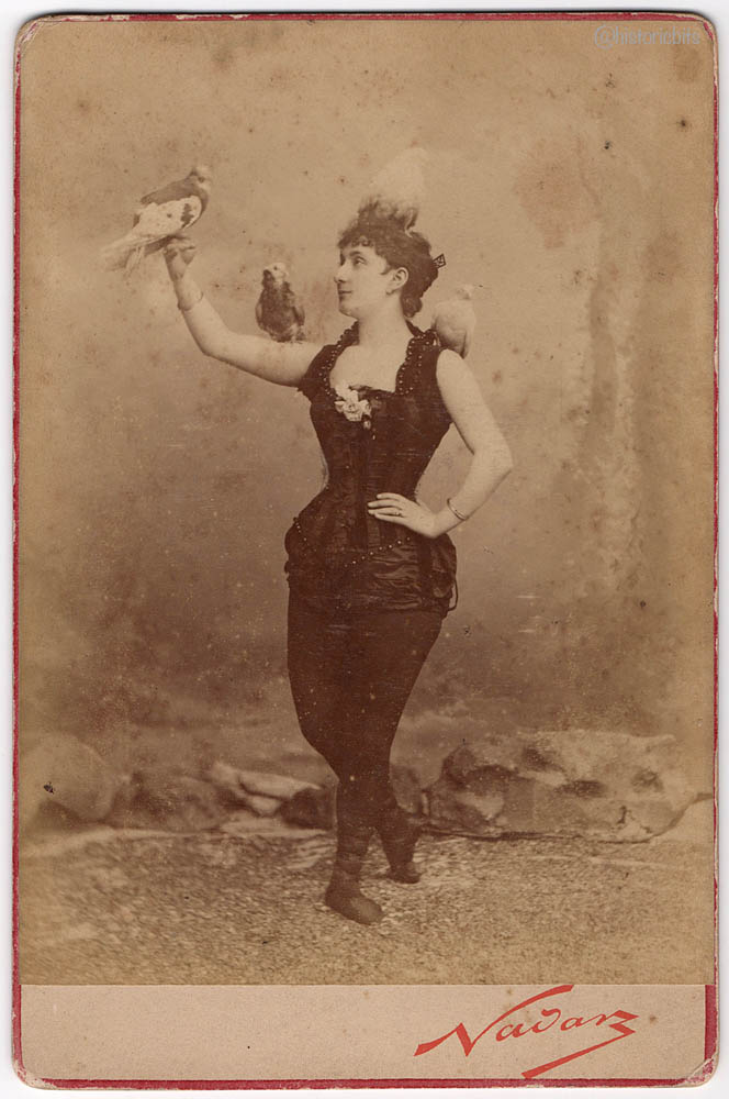 Performer with Birds,Nadar,Paris c.1890