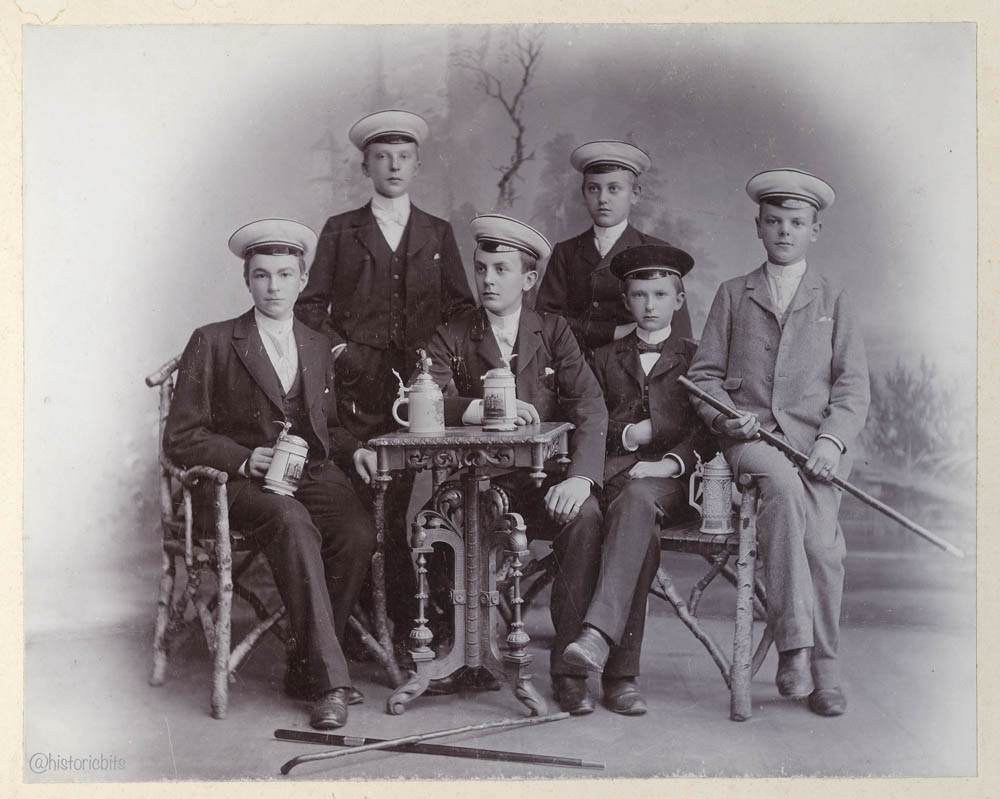 Students with Beer, Germany,c.1890