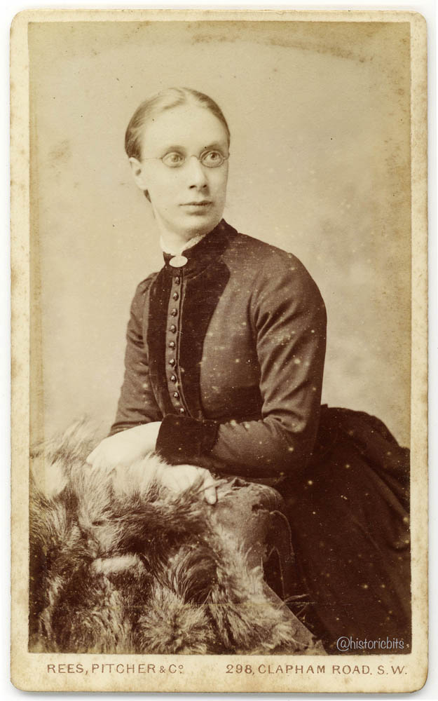Victorian Lady with Spectacles,Photostudio Rees,Pitcher&Co.,London, c.1880