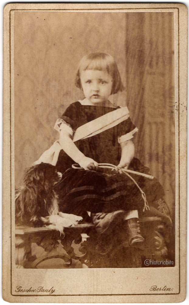 child in photostudio,1874 Germany