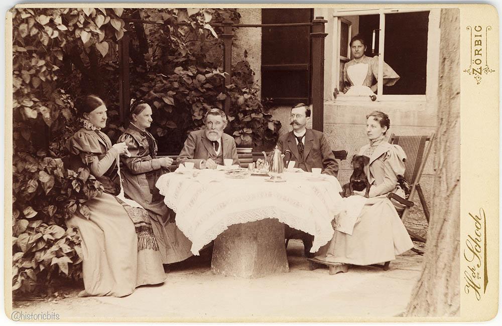 in the Garden,Germany,1897