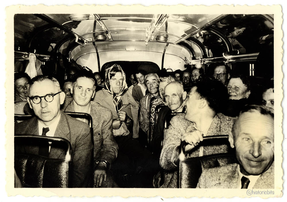 In the Bus,Germany,c.1950s