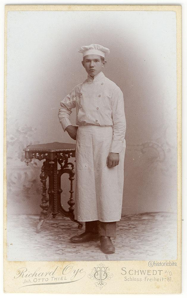 Chef at Photostudio ,c.1880