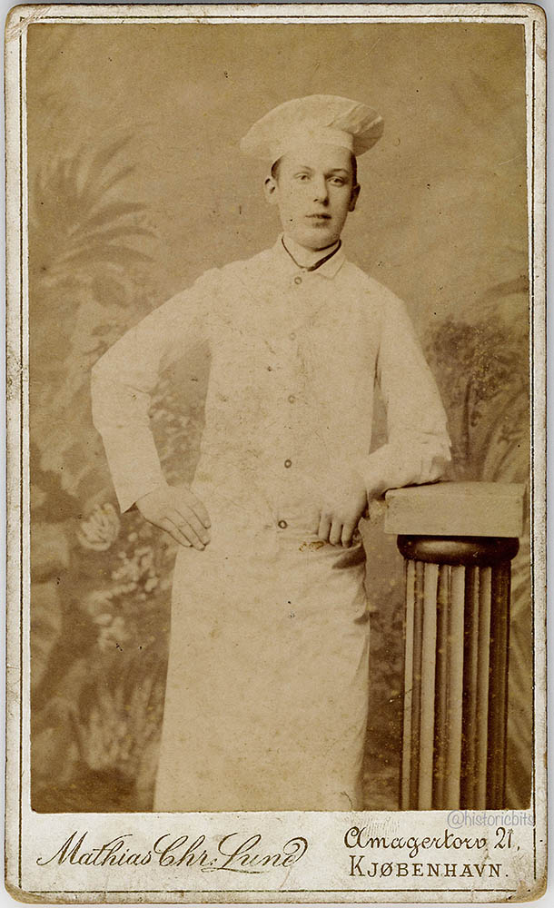 Chef at Photostudio Matthias Chr. Lund,Kopenhagen,c.1880