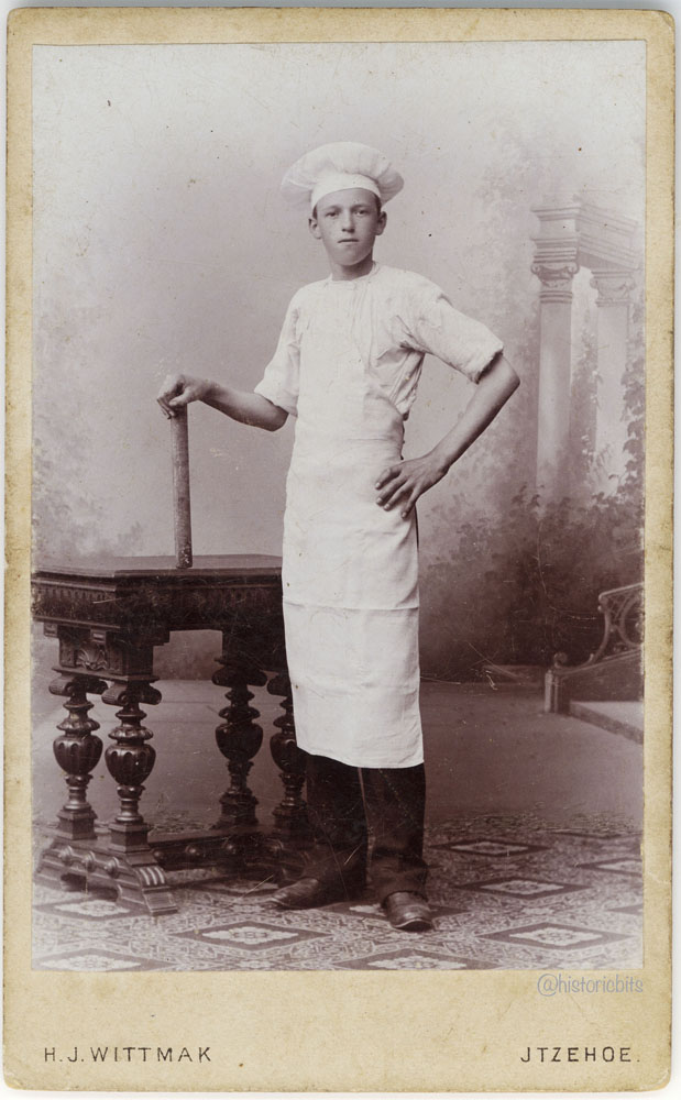 Chef at Photostudio H.J.Wittmak,Itzehoe,c.1880
