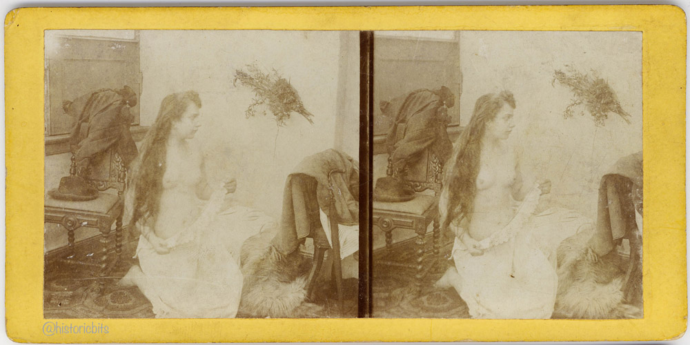 Victorian Erotic Stereocard,c.1900