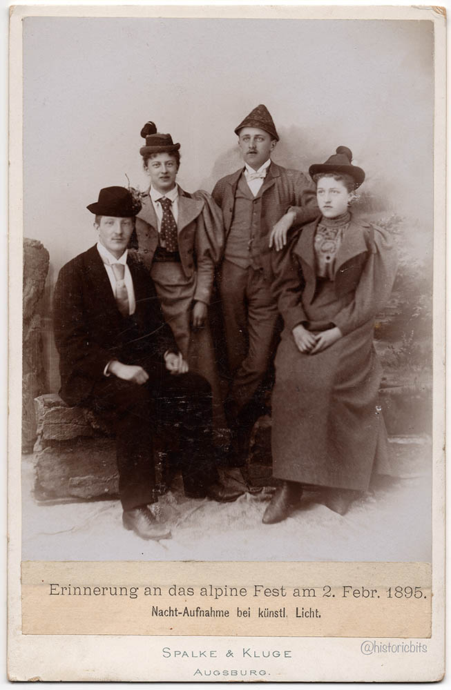 Group with Garb,Germany,1895