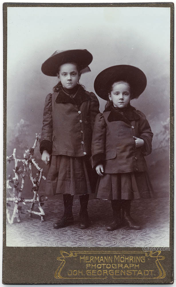 Children with Winter Clothes,Germany c.1900