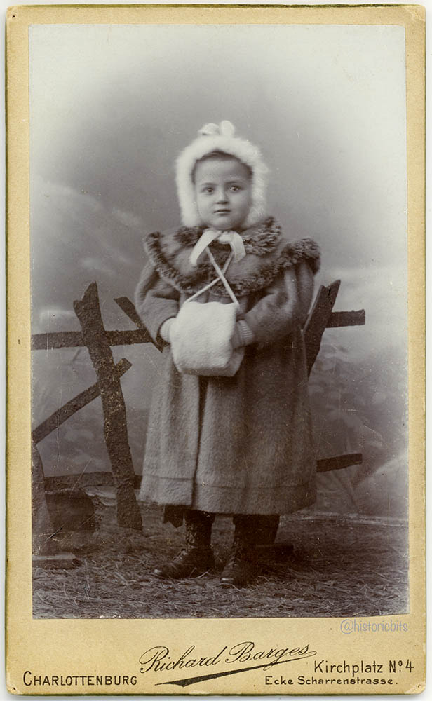 Child with Winter Clothes,Germany c.1900
