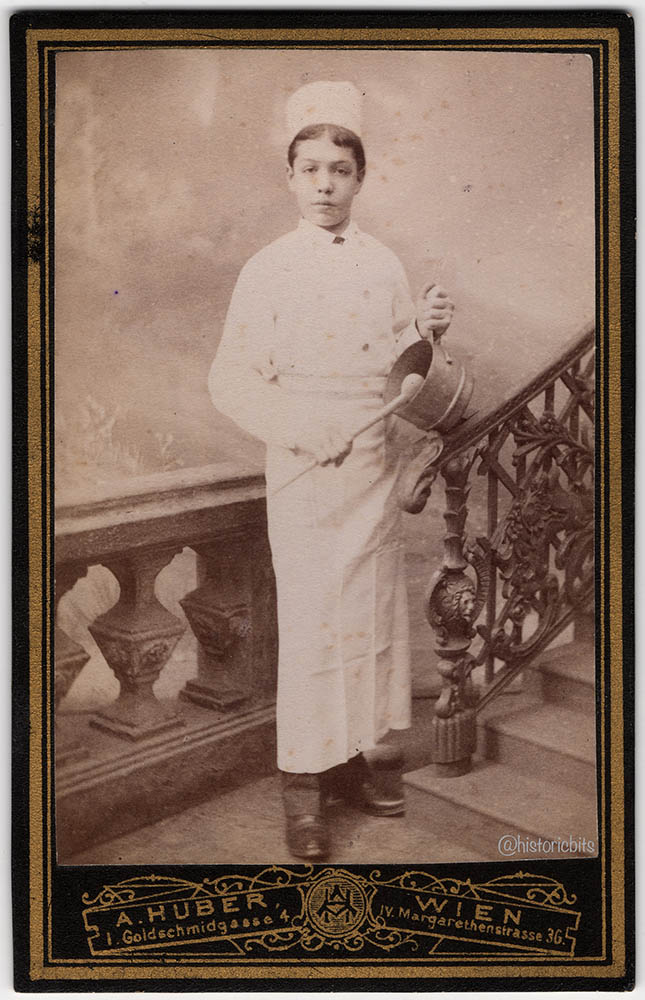 Chef at Photostudio ,Vienna,Austria,c.1880