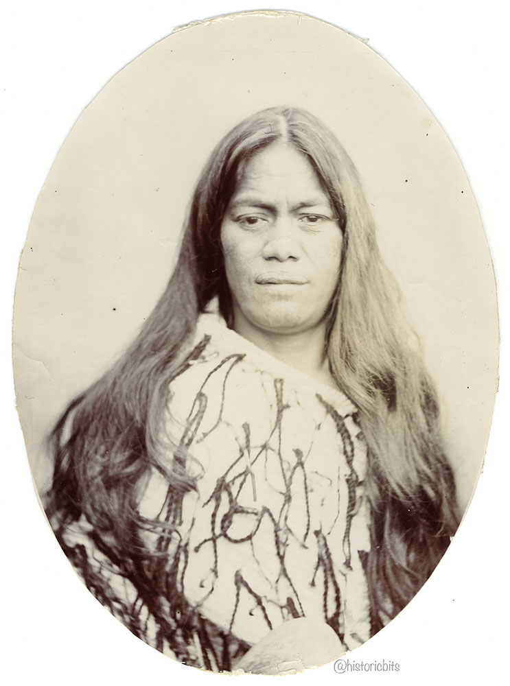 Portrait of a Maori Woman,New Zealand