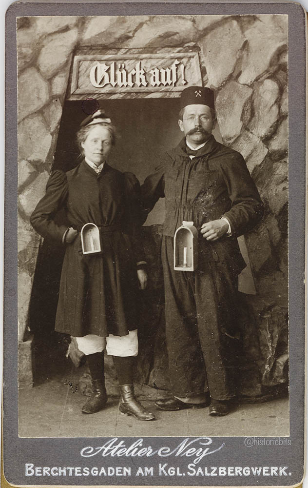 berchtesgaden salt mine,c.1910