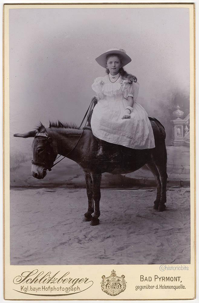esel girl,c.1900