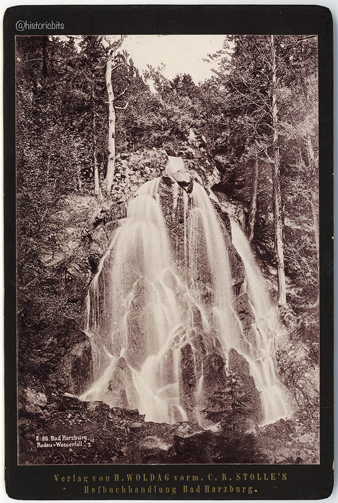 Radau Wasserfall  c.1890,H.Woldag,Bad Harzburg,Germany