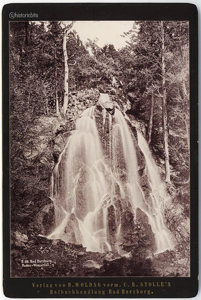 Radau Wasserfall  c.1890,H.Woldag,Bad Harzburg,Germany